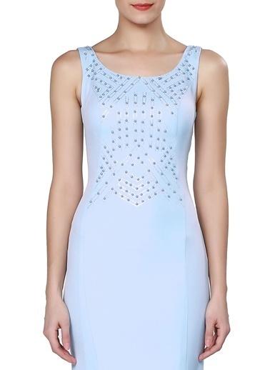 Pierre Cardin Balık Abiye Elbise Mavi